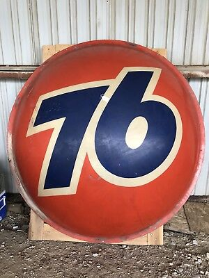 "UNION 76 Gas Oil Sign 7"" Two Piece Ball Vintage Service Station"