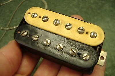 Vintage 1980 Gibson Dirty Fingers Pat # Zebra guitar pickup old part 16 K NR