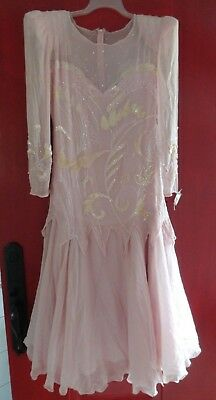 Vintage ALYCE DESIGNS  Pink Silk Mother of the Bride Dress NWT Sz 10