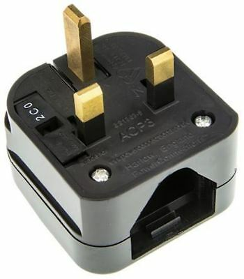 powerconnections US A Enchufe GB conector convertidor, CERTIFICADO EN 5a