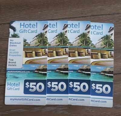 $200 ($50x 4) Hotel Gift Card from MyHotelGiftCard.Com Travel US Nationwide
