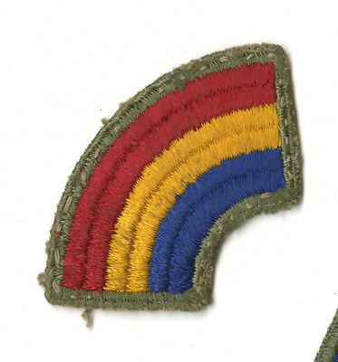 Wwii Original 42Nd Infantry Division White Back Patch France Germany Dachau Used