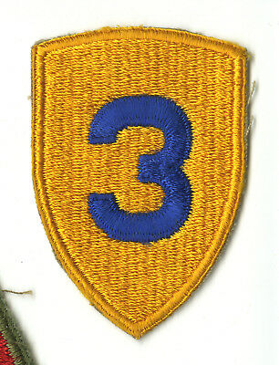 Wwii Original 3Rd Cavalry Division White Back Patch