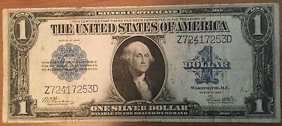 1923 Large Size $1 Silver Certificate  Horse Blanket