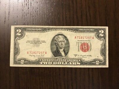 USA 1953 B 2$ VF Red Seal. United States Note.