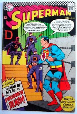 SUPERMAN #191 (DC -1966)  FN- Solid! Glossy! -combine ship-