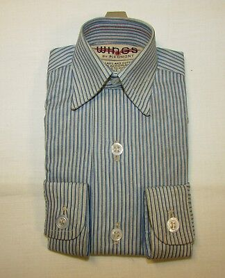 Piedmont Airlines Sample Shirt, Blue & White Stripe, Never Used