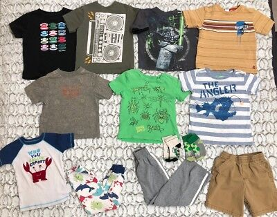 Boys 13 Pc Spring Summer Lot Carter's Crewcuts Paul Frank Old Navy Size 4 & 4t