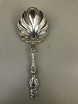 Whiting Lily Large Sterling Berry Spoon 9""