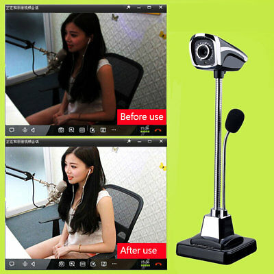 M800 USB 2.0 Wired Webcams PC Laptop Camera LED Night Vision With Microphone PP