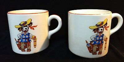 Vintage Edwin M. Knowles Dogs Dressed as Children Series Child Mugs / Cups