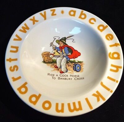 Wood's of England Ride A Cock Horse to Banbury Cross Alphabet Cereal Bowl