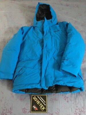 Marmot Colossus Goretex Down Jacket 700 Fill Mens Large L Bright Blue