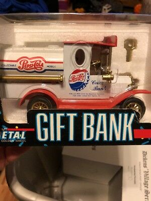Vintage Pepsi Cola Die Cast Gift Coin Bank NIB 1993 Golden Wheel Ltd Edition