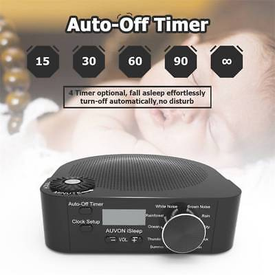 Black Noise Machine 10 Soothing Sounds And Auto-Off Timer Fall Asleep Faster