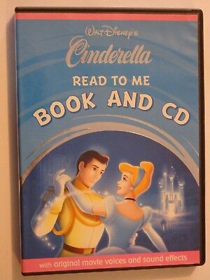 Disney Cinderella Read To Me Book and CD Kids GOOD CONDITION