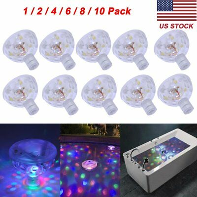 10X Floating Underwater LED Disco Light Glow Show Swimming Pool Hot Tub Spa Lamp