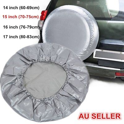 15 Inch Spare Tire Cover Wheel Tyre PVC Leather Covers Diameter 70~75cm AU