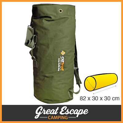OZtrail Canvas Duffle Bag Army / Military Style. Tough 14 oz canvas