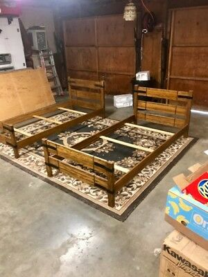 Brandt-Ranch Oak, 2 Extra Long twin beds. Heavy duty, can also use as Bunk Beds.