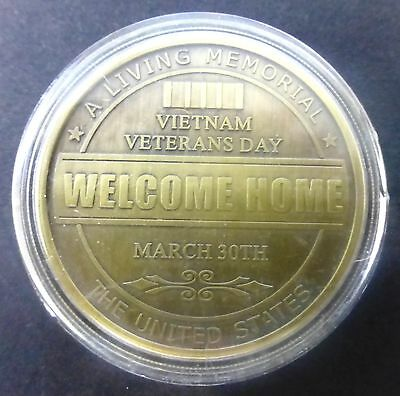 The Vietnam War 1959-1975 - Welcome Home March 30Th Veterans Commemorative Coin