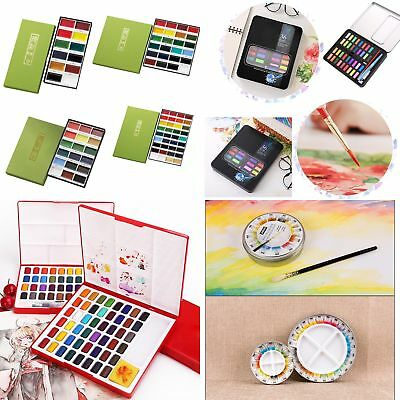 12/18/26/36/48Colors Professional Watercolor Solid Artist Drawing Paint Pigments
