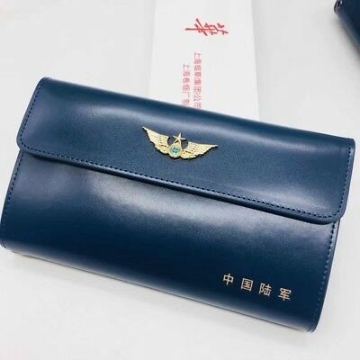 18's series China PLA Army Officer Genuine Leather Wallet,A