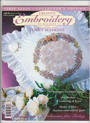 Creative Embroidery By Machine - Jenny Haskins - First Issue - Collector Edition