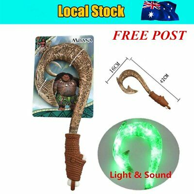 Maui Light-Up Sound Fish Hook Moana Exquisite Toys for kids birthday Gifts lemon