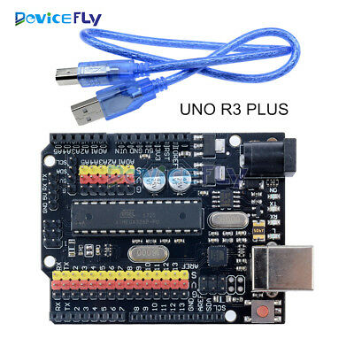 Arduino Compatible UNO R3 PLUS Sensor I/O Shield Atmega328P 16U2 Expansion Board