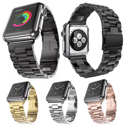 1x For Apple Watch iWatch Stainless Steel Band Link Bracelet Strap 38mm/42mm
