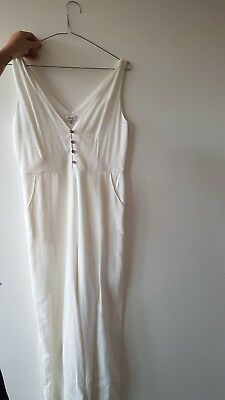 white princess polly jumpsuit