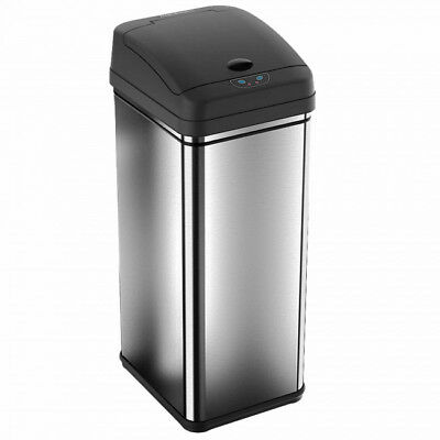 iTouchless Deodorizer 13 Gallon Stainless Steel Automatic Touchless Trash Can...