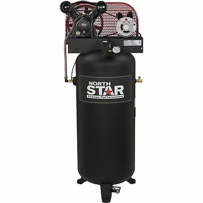 NorthStar Electric Air Compressor- 3 HP, 60-Gallon Vertical Tank