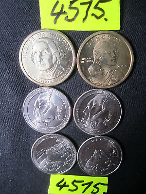 6 x  coins from  U.S.A. 50 gms      Mar4575