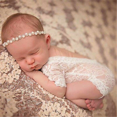Newborn Baby Boys & Girls Stretch Wrap Infant Photography Photo Prop Jumpsuit#XS