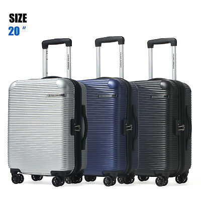 "20"" Luggage Travel Suitcase Trolley Bag TSA Lock Carry On Hard Case Expandable"