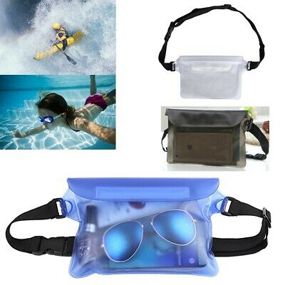 Waterproof Bag Underwater Pouch Waist Belt Pack Swimming Dry Case for Phone PVC