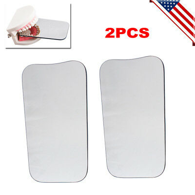 2PCS Dental Intraoral Orthodontic Occlusal 2sided Photographic Glass Mirror USA