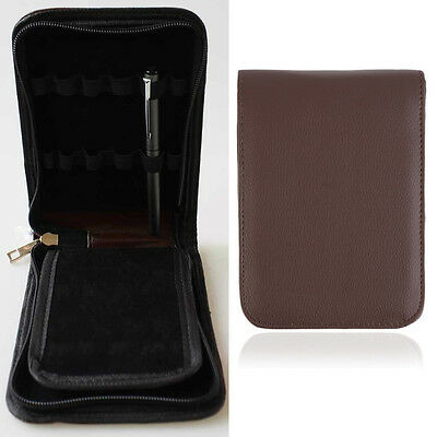 New Fashion Fountain Pen Roller Pen PU Leather Case Pouch Bag For 12 Pens O5