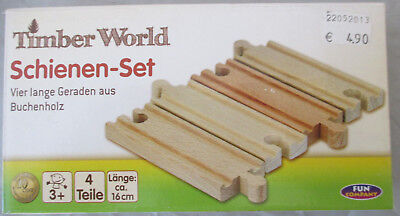Timber World Holz Schienen 3 Sets a 4 Schienen ca 16 cm Neu in OVP