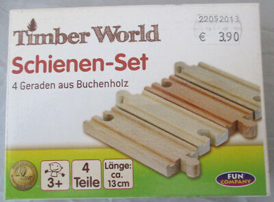 Timber World Holz Schienen 3 Sets a 4 Schienen ca 13 cm Neu in OVP