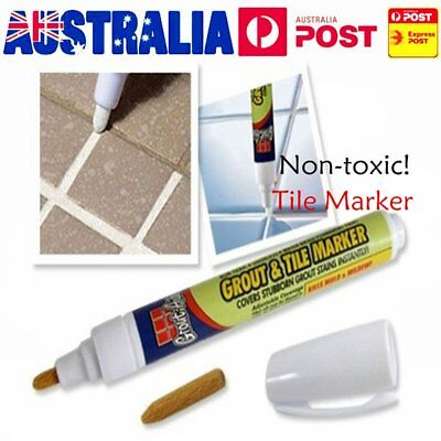Grout Aide Tile Marker White Color Repair Wall Pen Packaging As Seen On TV OZ
