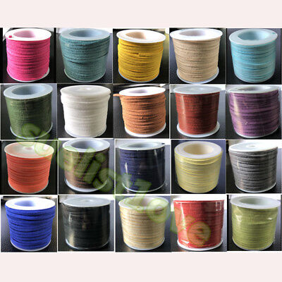 roll spool 3mm 10 yards suede leather wholesale strings Jewelry Making Cord