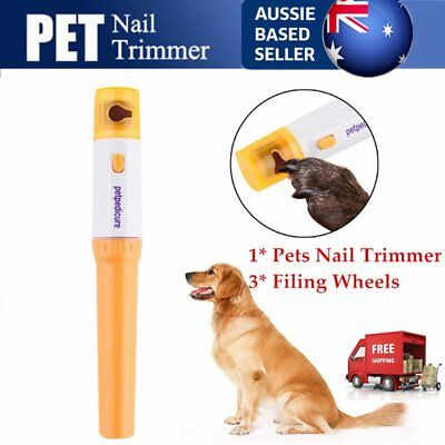 Pet Paws Dog Cats Grooming Grinding Painless Nail Grinder Trimmer Clipper ZJ#