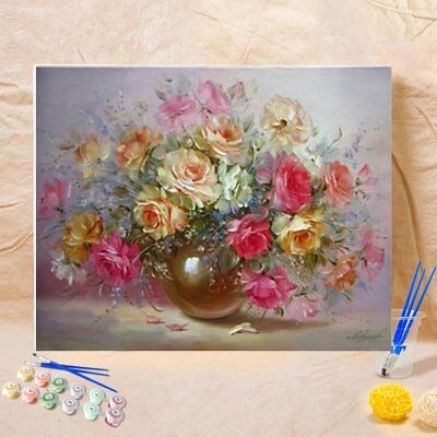 40x50cm Frameless Oil Painting Flowers Picture On Wall Paint By Numbers GAD1