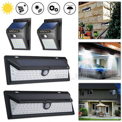 90/66/20LED Solar Powered PIR Motion Sensor Light Outdoor Garden Security Lights