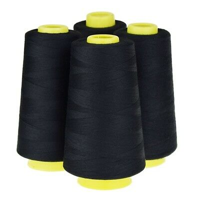 4 Cones (3000 yards each) Sewing Threads Polyester Threads Spool of Threads B7V9