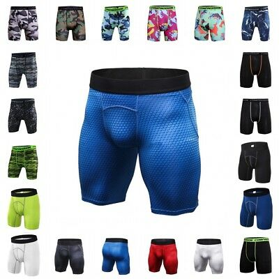 Men Compression Sports Shorts Pants Gym Workout Running Pants Fitness Underwear