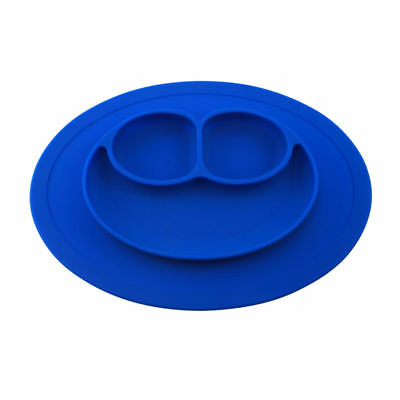 FDA Toddler One Piece Silicone Placemat Baby Plate Dish Food Tray Kids Table Mat